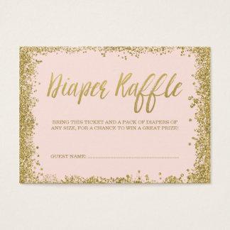 Blush Pink Gold Glitter Diaper Raffle Ticket