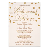 blush pink gold glitter rehearsal dinner invites