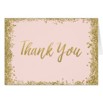Blush Pink Gold Glitter Thank You