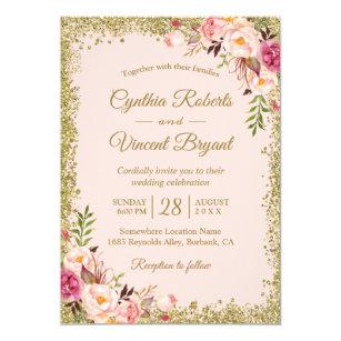 Pink Wedding Invitations Zazzle