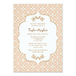 Blush Pink Gold Moroccan Bridal Shower Invites