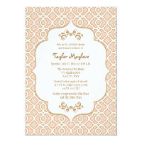 Blush Pink Gold Moroccan Bridal Shower Invites 5&quot; X 7&quot; Invitation Card (<em>$2.16</em>)