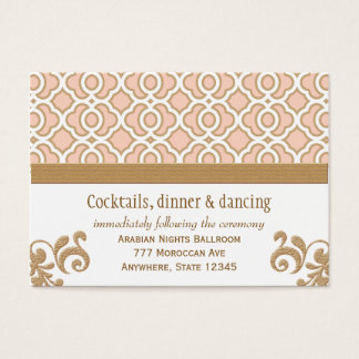 Blush Pink Gold Moroccan Reception Enclosure Cards