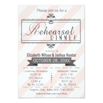 blush pink gold vintage rehearsal dinner invites