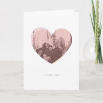 Blush Pink Heart I Love You Mom Mother's Day Card