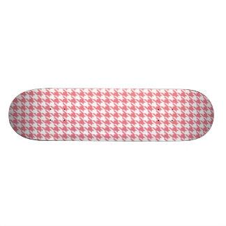 Blush Pink Houndstooth Skate Board Decks