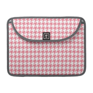 Blush Pink Houndstooth Sleeve For MacBooks