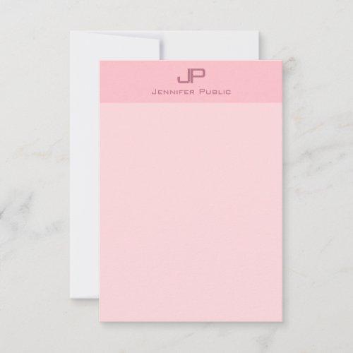Blush Pink Minimalist Modern Monogram Template