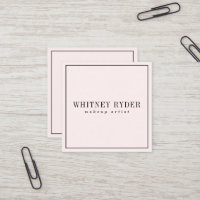 Blush Pink Modern Business Cards