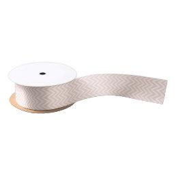 Blush Pink Modern Chevron Stripes Satin Ribbon