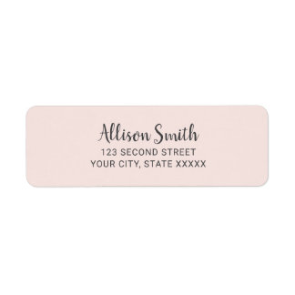 Blush Pink Modern Minimalist Girly Label