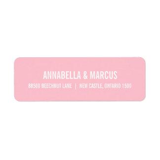 Blush Pink Old Fashion Typography Address Label