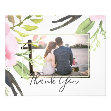 Blush Pink Olive Photo Thank You Lowest Budget Flyer