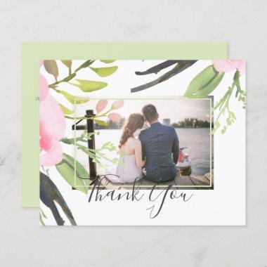 Blush Pink Olive Photo Thank You Wedding Budget