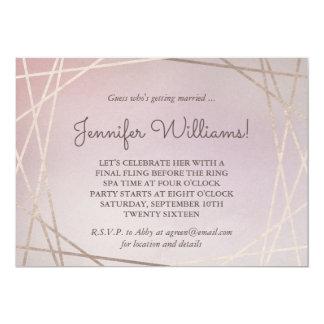 Blush Pink Opaline Bachelorette Party Invitation