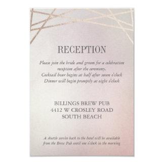 Blush Pink Opaline Wedding Invitation Reception