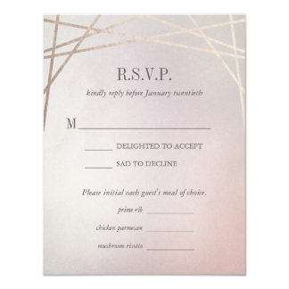 Blush Pink Opaline Wedding Invitation RSVP Card