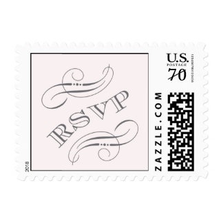 Blush Pink Ornament stamp with RSVP