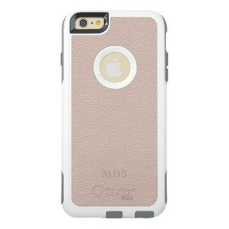 Blush Pink OtterBox Faux Leather Monogram White OtterBox iPhone 6/6s Plus Case