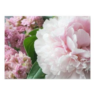 Blush Pink Peonies Card