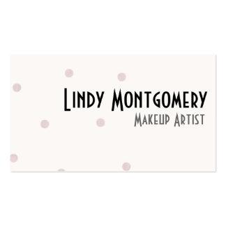 Blush Pink Polkadot Personalized Business Cards