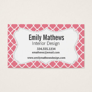 Blush Pink Quatrefoil Business Card