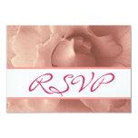Blush Pink Rose Floral Wedding Collection Card