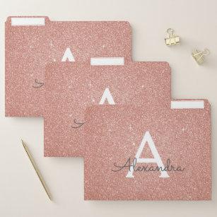 Blush Pink And Gold Binders Amp Folders Zazzle