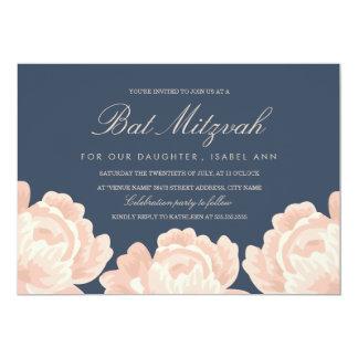 Blush Pink Roses Bat Mitzvah Card