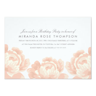 Blush Pink Roses Birthday Party Invite