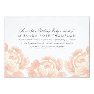 Blush Pink Roses Birthday Party Invite
