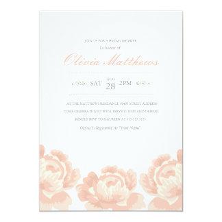 "Blush Pink Roses Bridal Shower Invitation 5"" X 7"" Invitation Card"