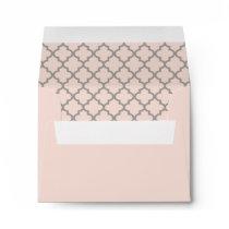 Blush Pink RSVP Envelope with Gray Address
