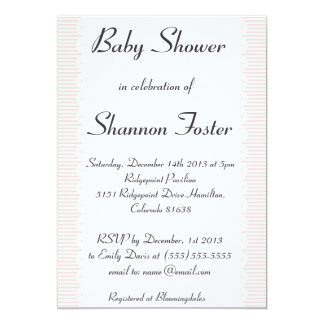 Blush Pink Scalloped Baby Shower Invitation