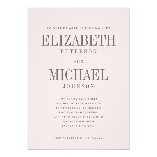 Simple Wedding Invitations & Announcements