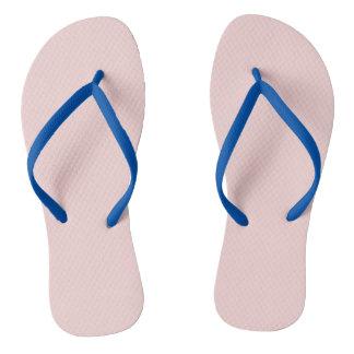 Blush Pink Solid Color Flip Flops