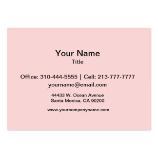 Blush Pink Solid Color Large Business Card