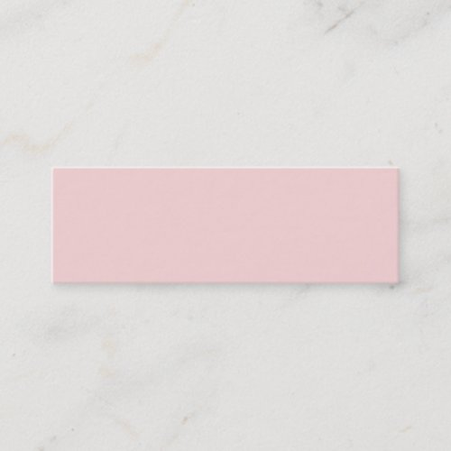 Blush Pink Solid Color Mini Business Card