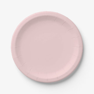 Blush Pink Solid Color Paper Plate