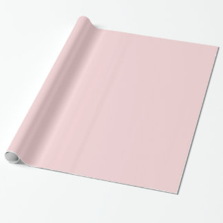 Blush Pink Solid Color Wrapping Paper