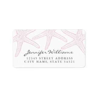 Blush Pink Starfish Address Label