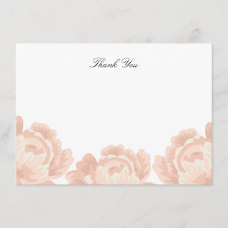 Blush Pink Thank You Note Card