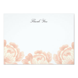 "Blush Pink Thank You Note Card 4.5"" X 6.25"" Invitation Card"