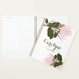 Blush Pink Tulips Personalized Planner