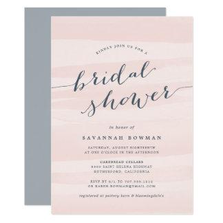 Blush Pink Watercolor Bridal Shower Invitation