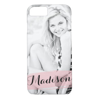 Blush Pink Watercolor Custom Photo Personalized iPhone 7 Case