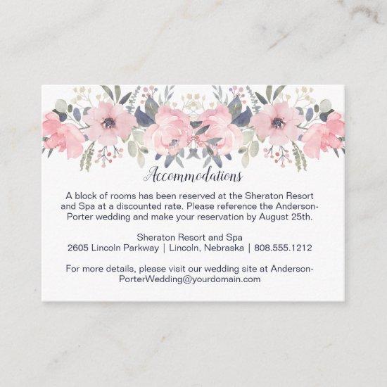 Blush Pink Watercolor Floral | Pink Enclosure Card