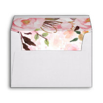 Blush Pink Watercolor Flowers Envelope