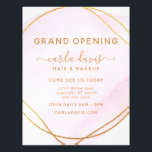 """Blush Pink Watercolor Gold Circle Salon Reopening Flyer<br><div class=""""desc"""">Blush Pink Watercolor Gold Circle Salon Reopening Flyer. Elegant blush pink watercolor gold circle geometric hand lettered style calligraphy script professional branding. Perfect for makeup artists,  hair stylists,  cosmetologists,  and more!</div>"""