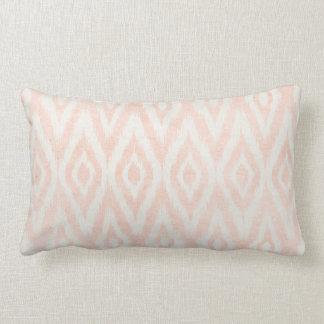 Blush Pink Watercolor Ikat Geometric Painted Print Pillow